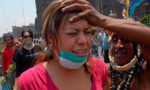 В Мексике с начала года от свиного гриппа умерли сотни людей