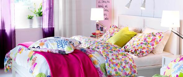 Постельное белье в интерьере спальни (домашний интерьер)
