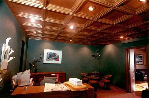 Деревянное убранство потолка