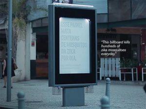 В Бразилии создали билборд, уничтожающий комаров