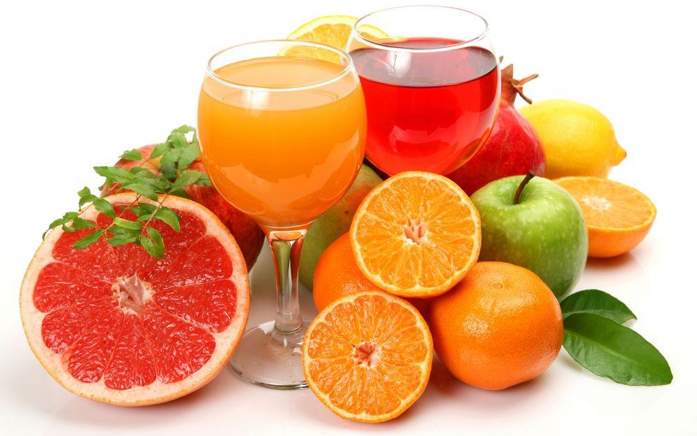 Защитись от простуды и гриппа фруктами и соками
