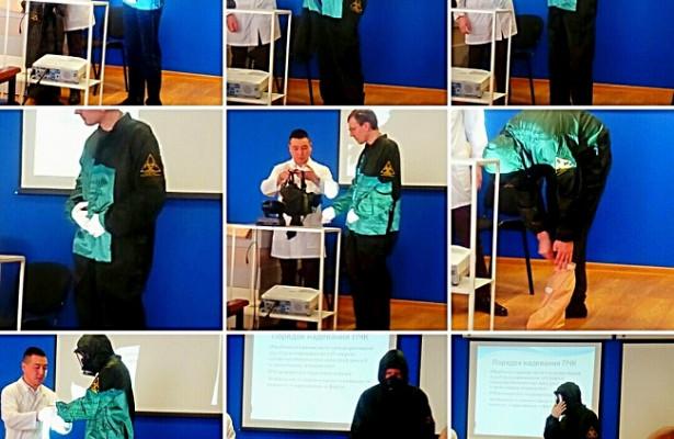 В КДЦ №4 прошла тренировка по ликвидации очага инфекции